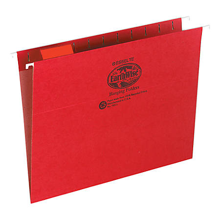Pendaflex® Earthwise® Hanging File Folders, Letter Size, Red, Pack Of 25