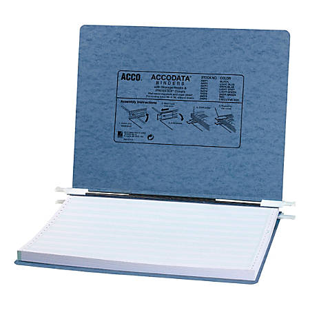"Wilson Jones® Presstex® Data Binder With Retractable Hooks, 11"" x 14 7/8"", 60% Recycled, Light Blue"