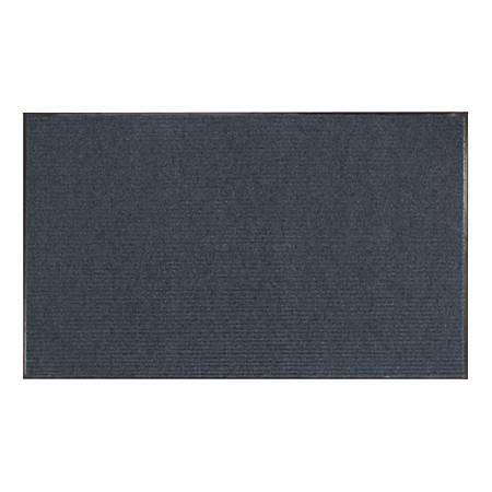 Office Depot® Brand Tough Rib Floor Mat, 3' x 5', Blue