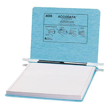 "Wilson Jones® Presstex® Pressboard Data Binder, 9 1/2"" x 11"", 50% Recycled, Light Blue"