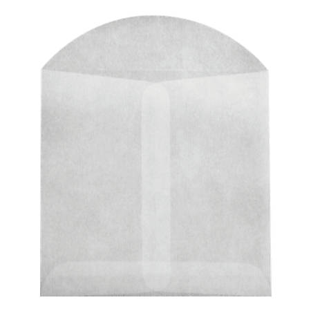 """LUX Open-End Envelopes With Flap Closure, 3 3/4"""" x 4 3/4"""", Glassine, Pack Of 10"""