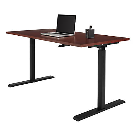 Stand Up Desk >> Realspace Magellan 60 W Pneumatic Height Adjustable Standing Desk Classic Cherry Item 102866