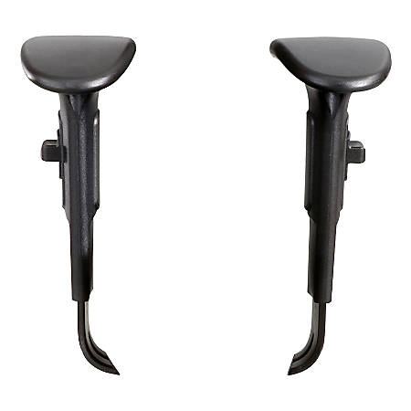 Safco® Adjustable Width Arm Kit for Vue™ and Alday™ Chairs, Black, Set of 2