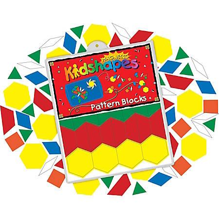 Barker Creek® Magnets, Magnetic Kidshapes™, Pattern Blocks, Grades Pre-K+, Pack Of 108