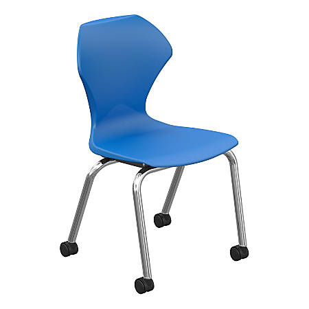 Marco Group Apex Mobile Stack Chairs, Blue/Chrome, Pack Of 2