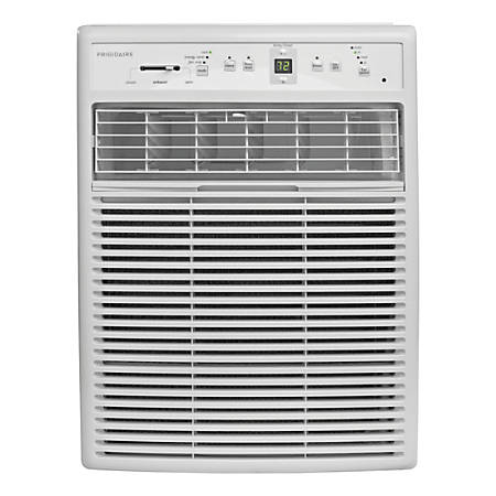 Frigidaire Slider / Casement Air Conditioner - Cooler - 2930.71 W Cooling Capacity - 450 Sq. ft. Coverage - Yes - Antibacterial Mesh - Remote Control - White