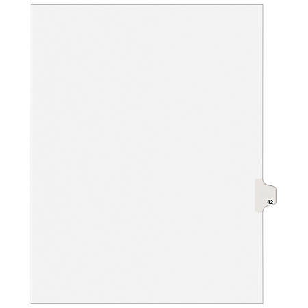 """Avery® Avery-Style Collated Legal Index Exhibit Dividers, 8 1/2"""" x 11"""", White Dividers/White Tabs, 42, Pack Of 25"""