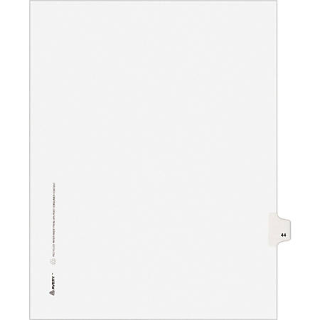 """Avery® Avery-Style Collated Legal Index Exhibit Dividers, 8 1/2"""" x 11"""", White Dividers/White Tabs, 44, Pack Of 25"""