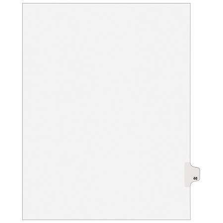 "Avery® Avery-Style Collated Legal Index Exhibit Dividers, 8 1/2"" x 11"", White Dividers/White Tabs, 46, Pack Of 25"