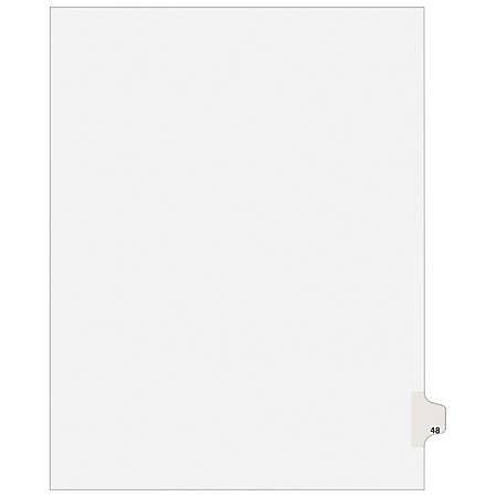 "Avery® Avery-Style Collated Legal Index Exhibit Dividers, 8 1/2"" x 11"", White Dividers/White Tabs, 48, Pack Of 25"