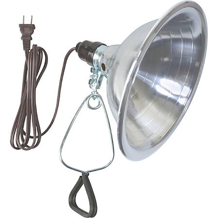"Woods 18/2 SPT-2 6' White Clamp Lamp With 8-1/2"" Reflector"