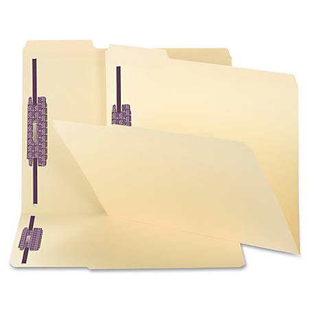 Smead® Manila Folders With SafeSHIELD® Coated Fasteners, Letter Size, Box Of 50