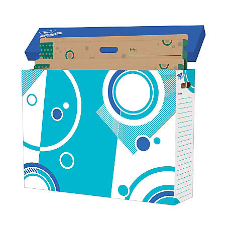"""TREND File 'N Save System® Chart Storage Sturdy Folders, 30 1/2""""H x 22 1/2""""W x 1/2""""D, Multicolor, Pack Of 6"""