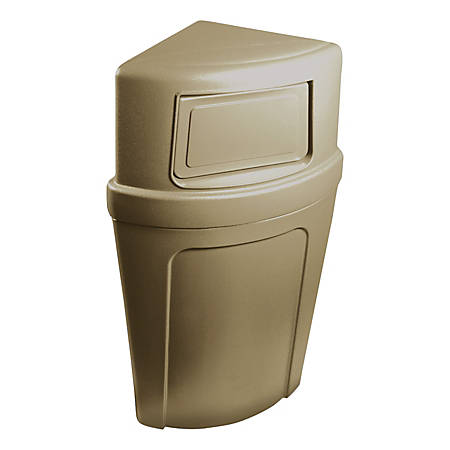 Continental 8325 Corner Round Receptacle, 21 Gallons, Beige