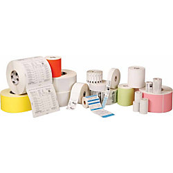 """Zebra Z-Perform 2000D Thermal Label - Permanent Adhesive - 2 1/4"""" Width x 1 1/4"""" Length - Direct Thermal - White - Paper, Acrylic - 2100 / Roll"""