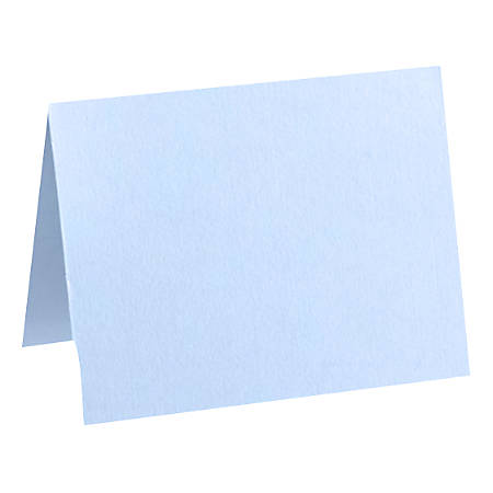 """LUX Folded Cards, A6, 4 5/8"""" x 6 1/4"""", Baby Blue, Pack Of 50"""