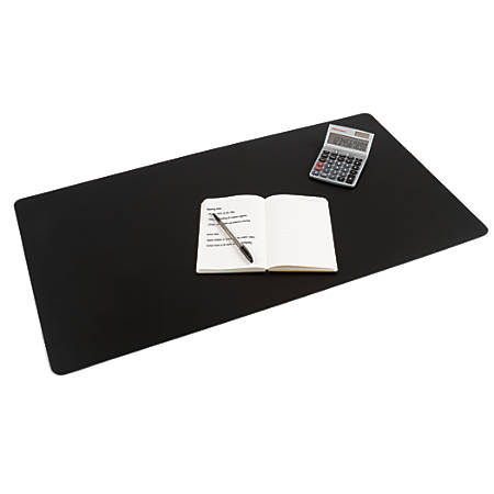 "Office Depot® Brand Ultra-Smooth Writing Surface With Microban®, 19 3/10"" x 35 2/5"", Black"