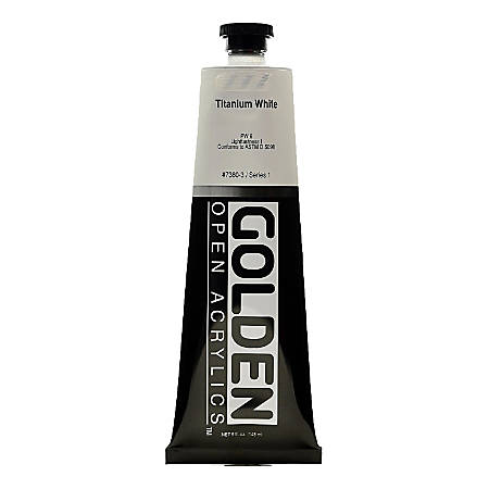 Golden OPEN Acrylic Paint, 5 Oz Tube, Titanium White