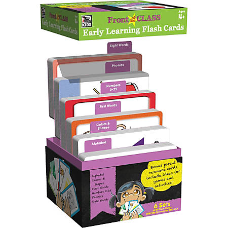Thinking Kids® Front Of The Class Early Learning Flash Cards, Multicolor, Grades Pre-K - 2, 54 Flash Cards Per Deck, Pack Of 6 Decks