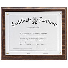 DAX Solid Wood Award Plaques Holds