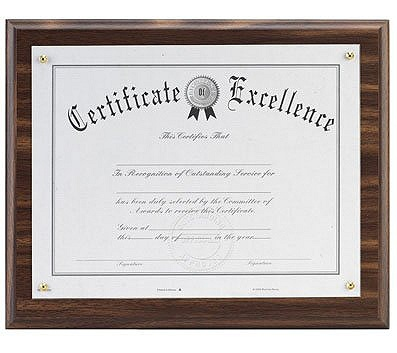 DAX Solid Wood Award Plaques Holds 8.50 x 11 Insert Wall Mountable ...