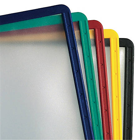 Durable InstaView Desktop Reference Replacement Sleeves, Assorted Colors, Pack Of 5