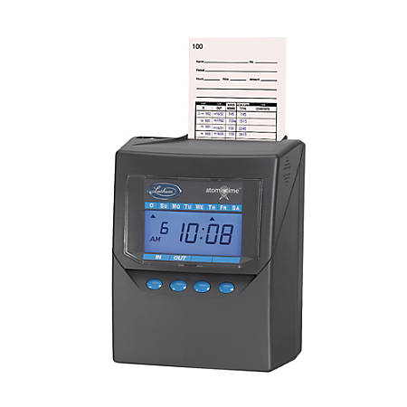 Lathem Time 7500E Calculating Time Recorder, Charcoal Gray