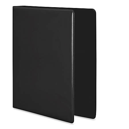 "Wilson Jones® Premium One-Touch Round-Ring View Binder, 3"" Rings, 52% Recycled, Black"