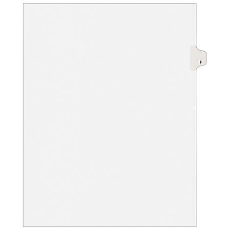 Avery® 30% Recycled Side-Tab Legal Exhibit Dividers, Tab Title F, Pack Of 25