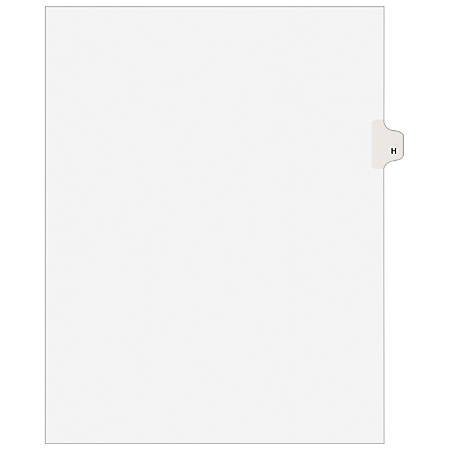"Avery® Avery-Style 30% Recycled Collated Legal Index Exhibit Dividers, 8 1/2"" x 11"", White Dividers/White Tabs, H, Pack Of 25"