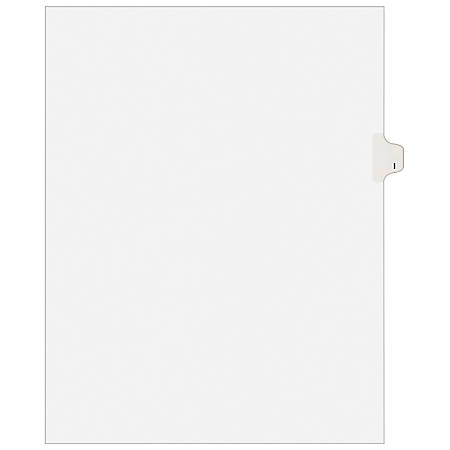"""Avery® 30% Recycled Avery-Style Collated Legal Index Exhibit Dividers, 8 1/2"""" x 11"""", White Dividers/White Tabs, I, Pack Of 25"""