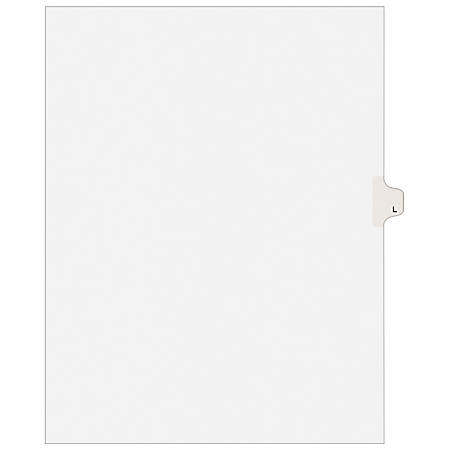 "Avery® Avery-Style Collated Legal Index Exhibit Dividers, 8 1/2"" x 11"", White Dividers/White Tabs, L, Pack Of 25"