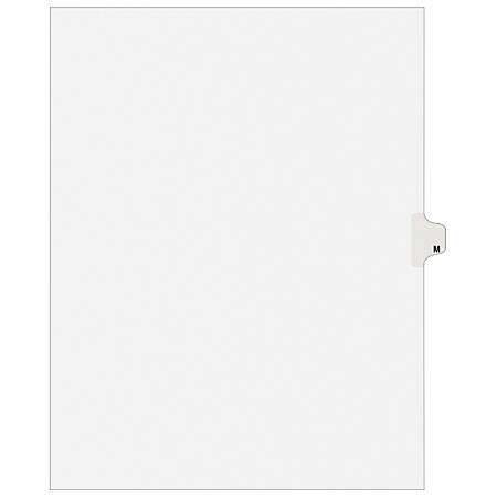 "Avery® Avery-Style Collated Legal Index Exhibit Dividers, 8 1/2"" x 11"", White Dividers/White Tabs, M, Pack Of 25"