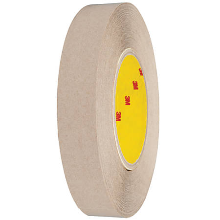 "3M™ 9627 Adhesive Transfer Tape, 3"" Core, 1"" x 60 Yd., Clear, Case Of 6"