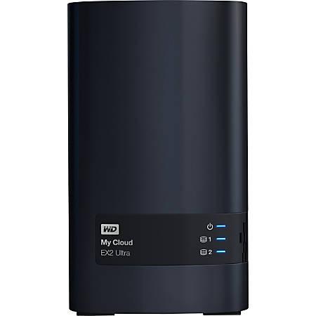 Western Digital® My Cloud EX2 Ultra Network Attached Storage Server, Marvell ARMADA 385 Dual-Core, 8TB HDD, WDBVBZ0080JCH-NESN