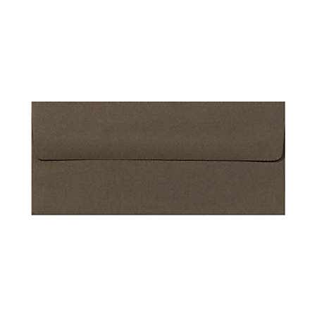 """LUX Envelopes With Peel & Press Closure, #10, 4 1/8"""" x 9 1/2"""", Chocolate Brown, Pack Of 50"""