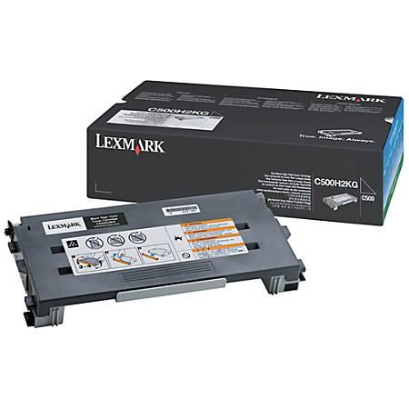 Lexmark™ C500H2KG High-Yield Black Toner Cartridge
