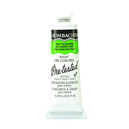Grumbacher P210 Pre-Tested Artists' Oil Colors, 1.25 Oz, Thalo Yellow Green, Pack Of 2