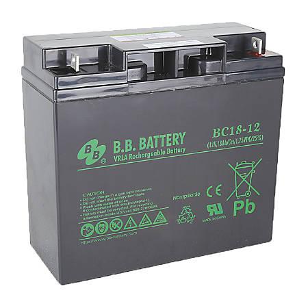 B&B BC Series Battery, BC18-12, B-SLA1218