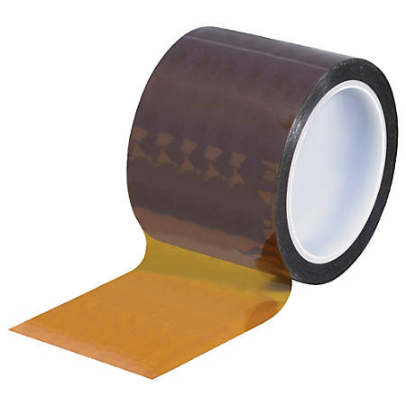 "Kapton® Sealing Tape, 3"" Core, 3"" x 108', 1 mil, Amber"