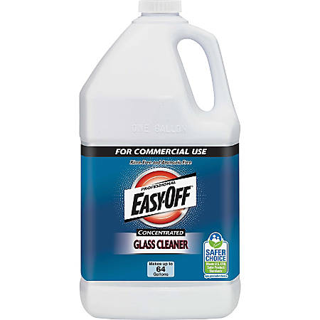 Easy-Off Professional Concentrated Glass Cleaner - 1 gal (128 fl oz) - Bottle - 1 Each - Dark Blue