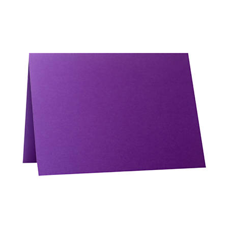 """LUX Folded Cards, A1, 3 1/2"""" x 4 7/8"""", Purple Power, Pack Of 50"""