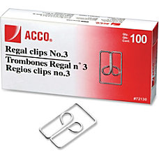 Acco Regal Owl Paper Clips No