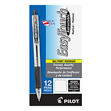 Pilot EasyTouch Retractable Ballpoint Pens Medium