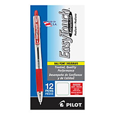 Pilot EasyTouch Retractable Ballpoint Pens Medium
