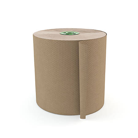 "Cascades® 100% Recycled Hardwound 1-Ply 7 1/2"" Roll Towel For Tandem®, 1050', Moka, 6 Rolls Per Case"