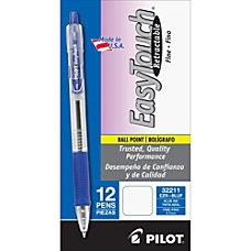 Pilot EasyTouch Retractable Ballpoint Pens Fine