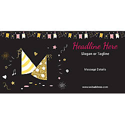 Custom Horizontal Banner Caps And Bunting