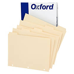 Oxford Manila Tab Dividers Blank 5