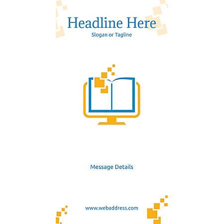 Custom Vertical Banner, Digital School Book